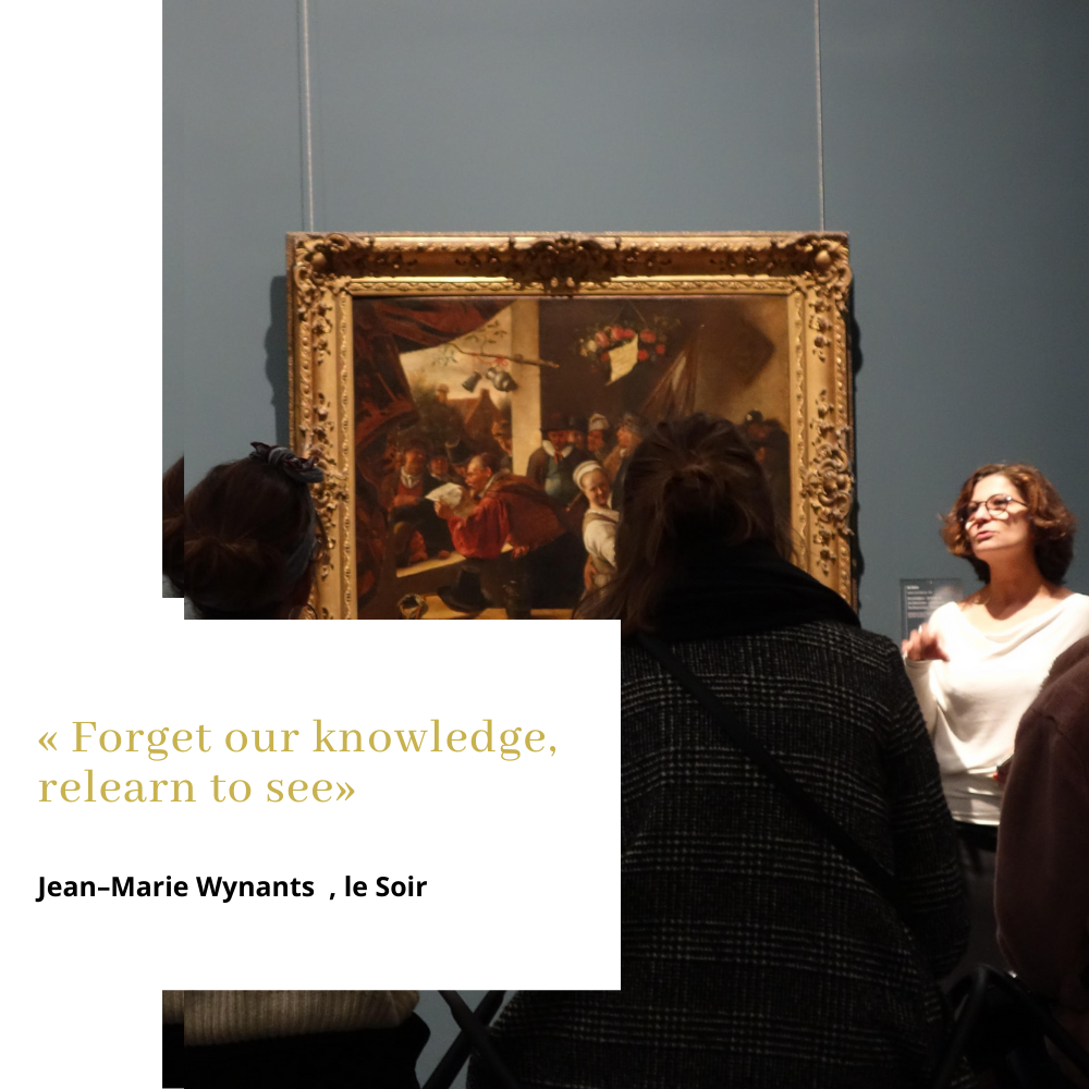 MindfulART session with Marjan Abadie- Old Masters at  Royal Museum Brussels -Le Soir